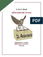 Apolonio de Tiana, Mead