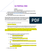copy of sle proposal form