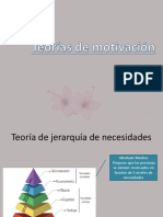 Teorías de Motivación