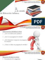 Lección 2.1 Elementos del plan de estudio de Educación Artística.