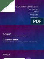 Respon Fototaksis Dan Geotaksis Kel 3a