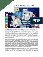 Cara Daftar Domino QQ Online Terbaru 2019