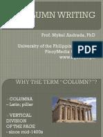 ANDRADA - Column Writing