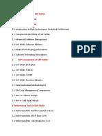 Content - ABAP Programming for SAP HANA