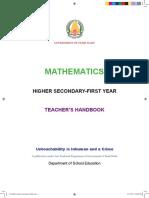 11th Maths Teachers Hand Book_FINAL