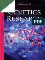Advances in Genetics Research Vol 17