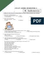 Soal UAS Bahasa Indonesia Kelas 2