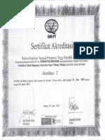 Sertifikat Akreditasi PTB 2009 Sd 2014