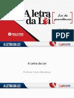 A Letra Da Lei - Carlos Mendonça