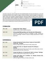 Curriculo Felipe Lobos Villegas - Profesor de Ingles UMCE