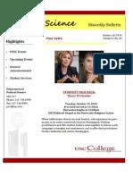 POSC Biweekly Bulletin October 18 2010