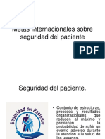 Metas Internacionales Sobre Seguridad Del Paciente