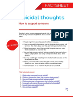 Suicidal Thoughts How to Support Someone Factsheet 1