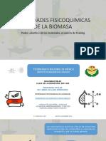 2.6 Propiedades Fisicoquímicas de La Biomasa