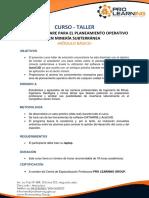 Planeamiento Operativo en Minería Subterránea