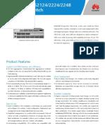 Huawei OceanStor SNS2124 2224 and 2248 Data Sheet