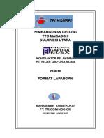 11. Form Format Laporan Proyek