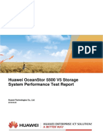Huawei OceanStor 5500 V5 Storage System Performance Test Report