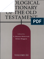 Theological Dictionary of the Old Testament Vol 03
