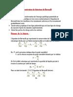 Démonstration Du Théorème de Bernoulli