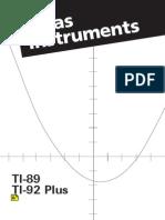 TI 92 Manual