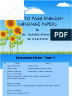 How to Pass English Language Papers