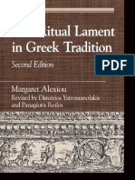 Ritual lament ancient Greece alexiou