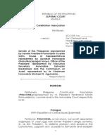 Philconsa petition vs BOL