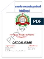 Physics Project on Optical Fibre