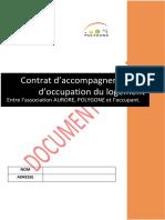 Modèle Type- Convention d'Occupation UTUE-V3