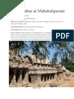 Panch Rathas at Mahabalipuram