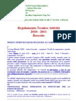 REGOLAMENTO TECNICO 2010-2011