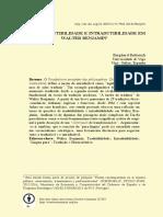 Sobre tradutibilidade e intradutibilidade em Walter Benjamin