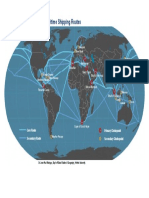 Map Main Maritime Routes