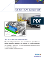 12 Low-speed Crash Test Standard RCAR Process