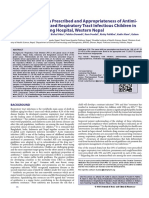 Study of Medication Prescribed and Appropriateness of Antimicrobials in Hospitalized Respiratory Tract Infectious Childr