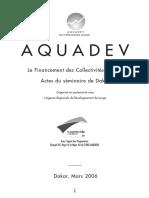Actes Du Seminaire de Dakar Sur Le Financement Des Collectivites Locales