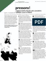 Décompressons! Dix conseils gagnants pour les leaders