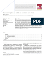 Acupuncture Regulates Gut Motility and Secretion via Nerve Reflexes