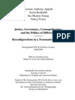 Justice, Governance, Cosmopolitanism,