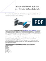 Flexible Solar Battery in Global Market
