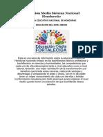 Educación Media Sistema Nacional Hondureño
