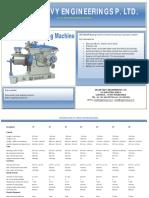 Catalogue of Sagar Shaping Machines