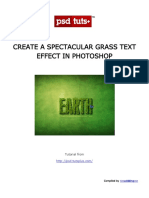 Create a Spectacular Grass Text Effect in Photoshop.pdf