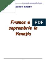 Teodor Mazilu - Frumos e in septembrie la Venetia [v. 0.9].doc