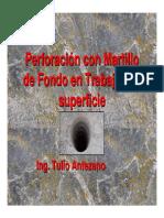 Perforacion Con Martillo de Fondo SIPERVOR 2011 A