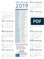 2019 - Industrial Team Calendar