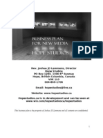 Hope Studios Business Plan