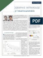 La Thermographie IR Appliquee a Lindustrie Automobile Decembre 2005