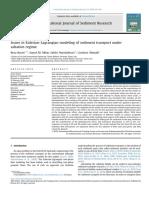 Issues in Eulerian Lagrangian Modeling of Sedim 2018 International Journal o